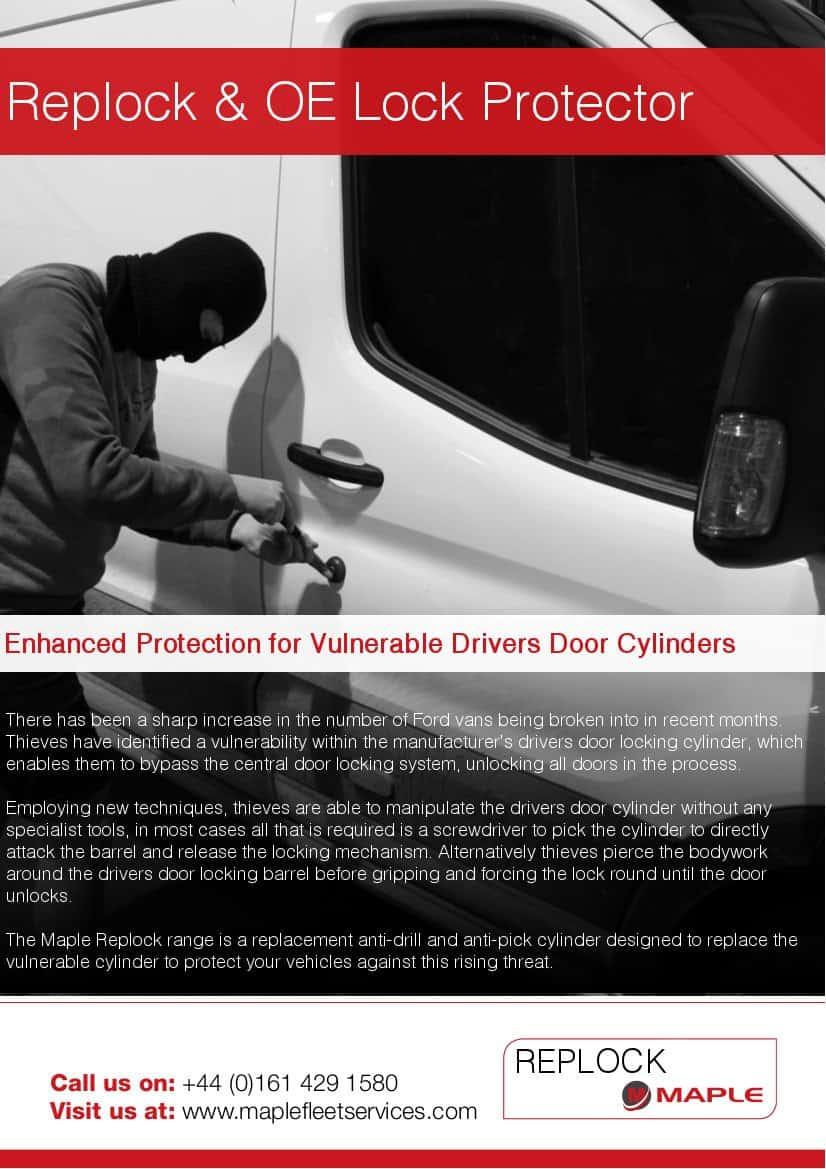 Ford Transit Van Security Locks by Replock